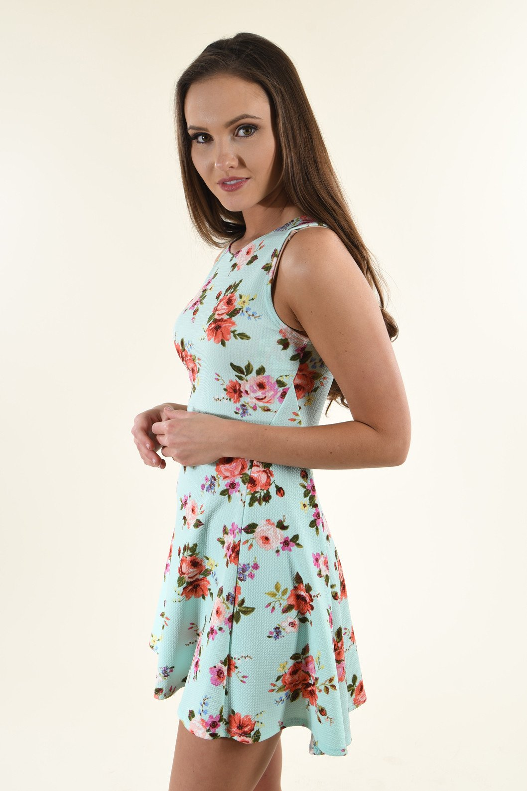 Mint to Be Together Floral Dress