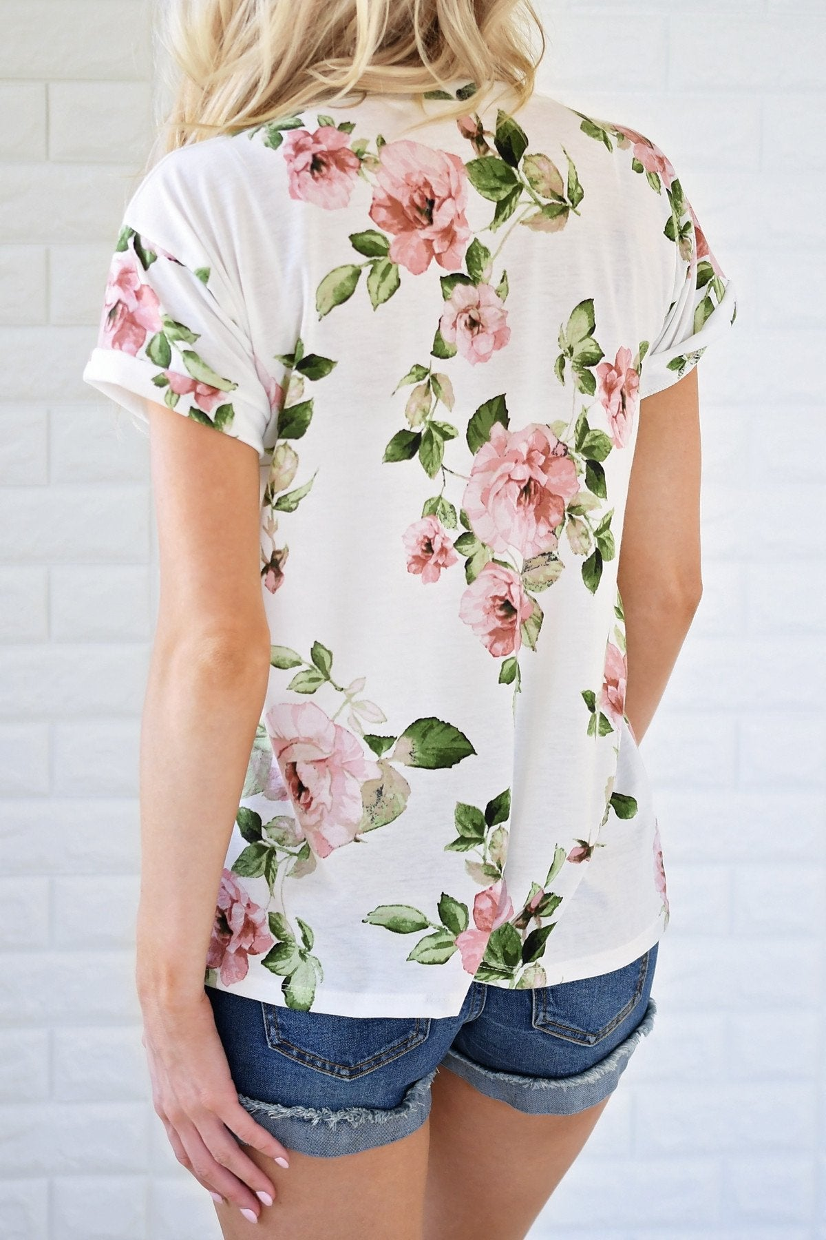 Pretty Things Ivory Floral Top