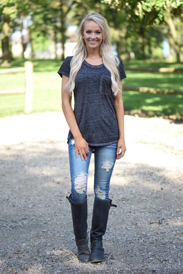 Casual Comfort - Black Tee
