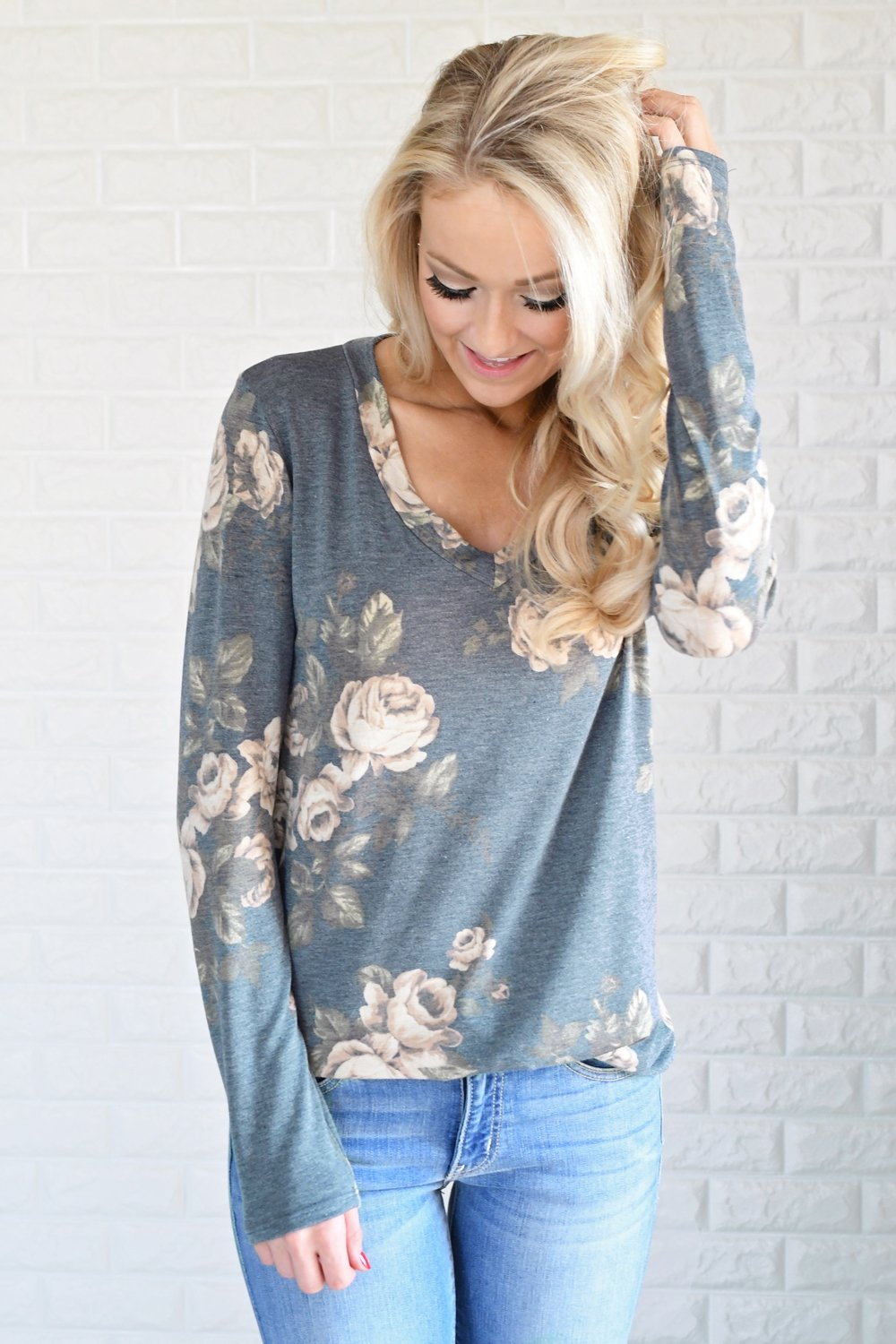 Good Times Floral V-Neck Top