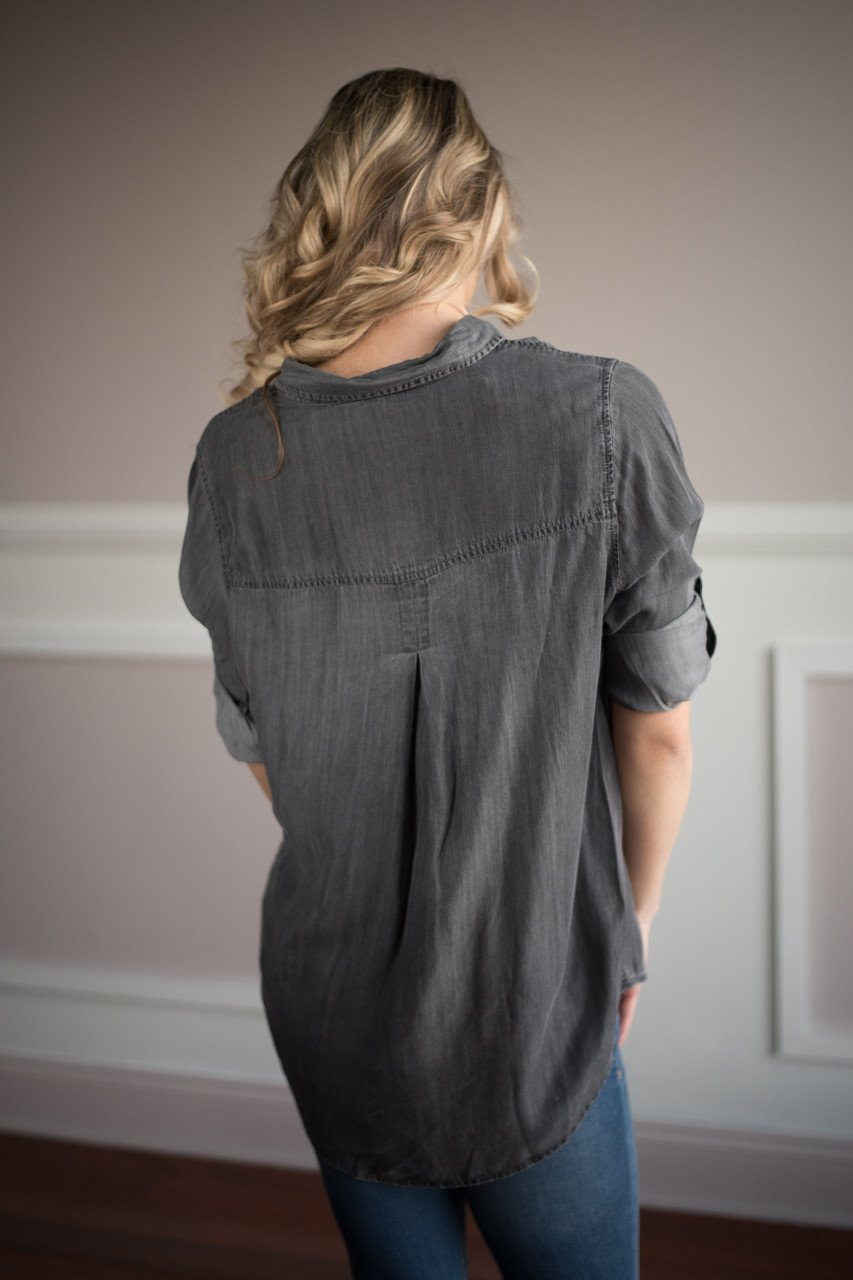Work For It Charcoal Top