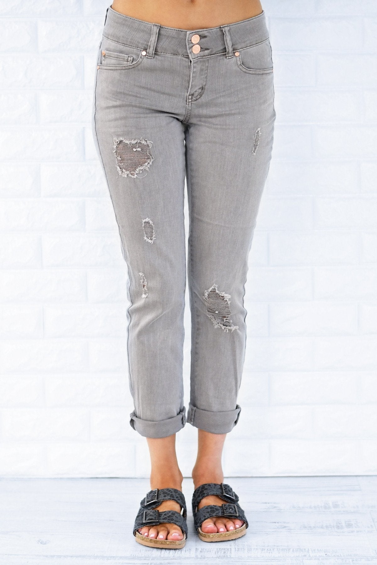 Calypso Jeans - The Boyfriend Effect Grey