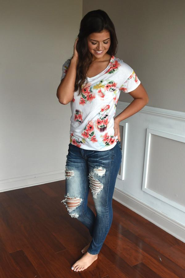 Go To Floral V-Neck