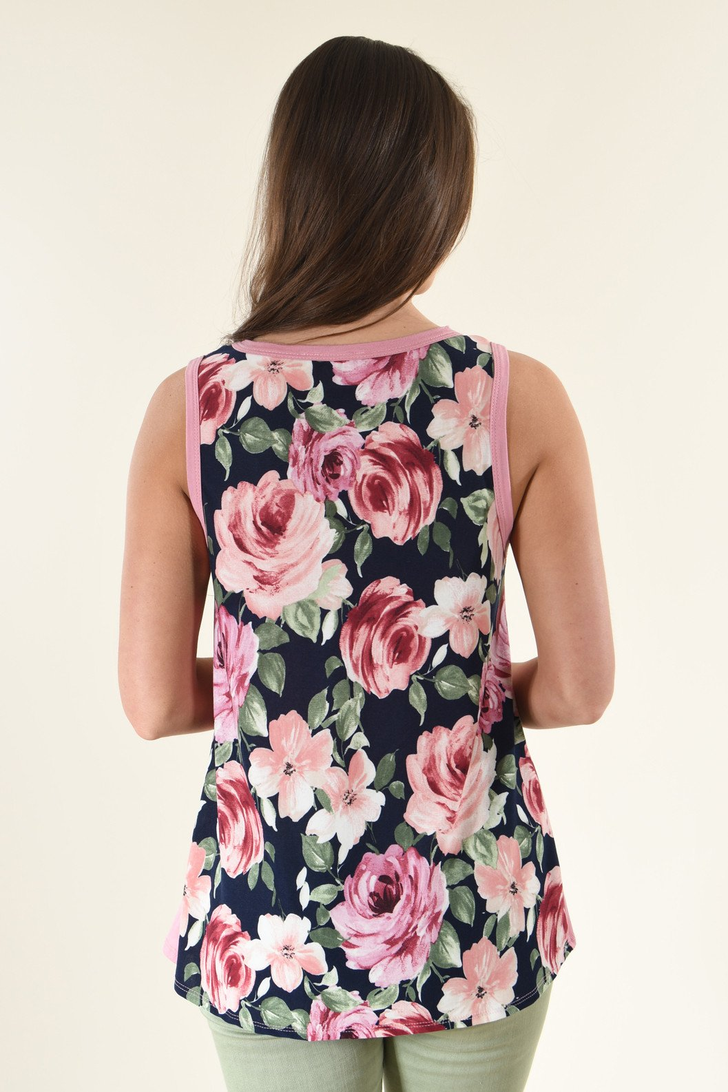 One Last Look Floral Tank