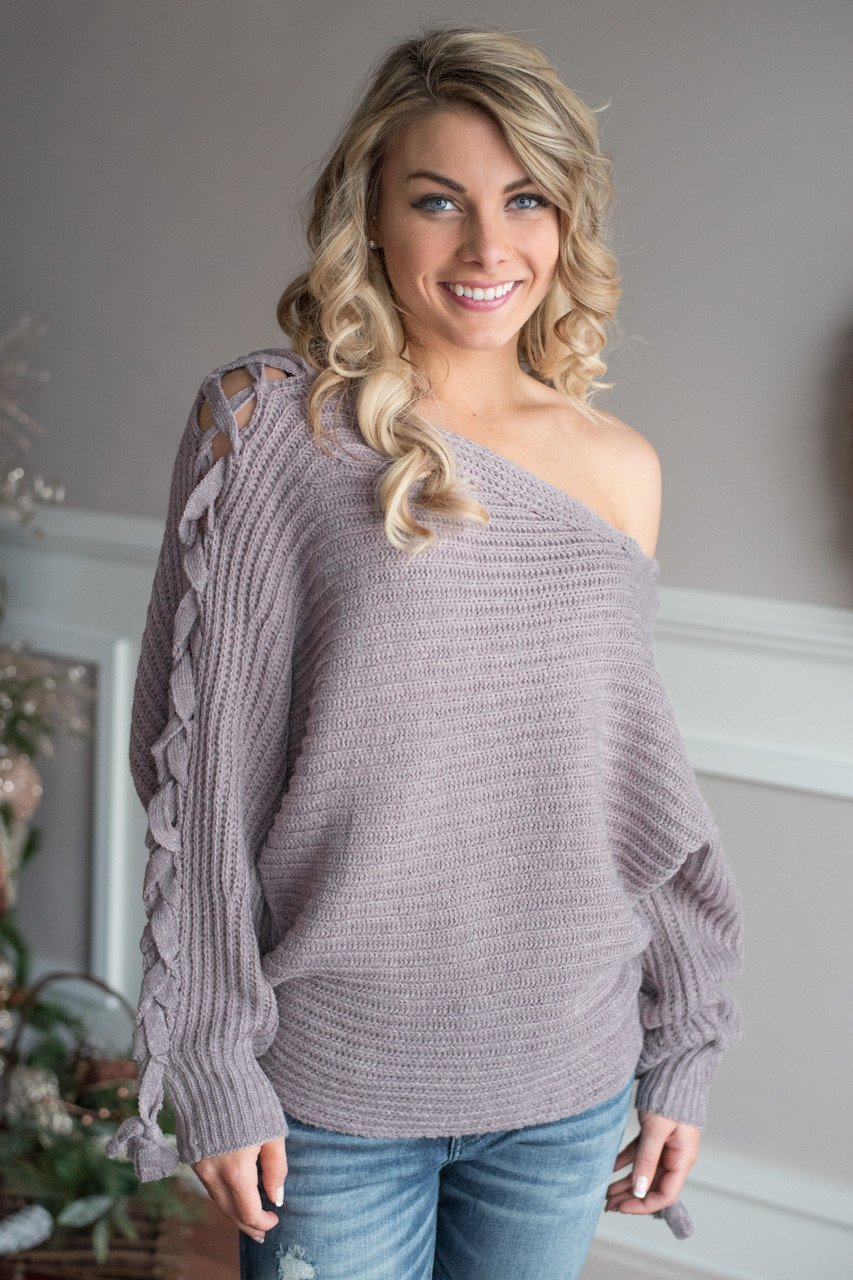 Be My Miracle Sweater Light Purple
