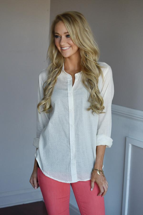 Born to Explore Blouse ~ Ivory