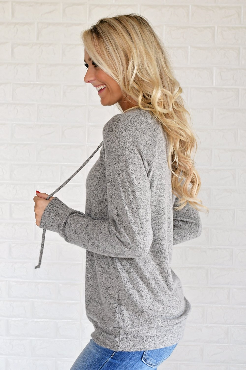 Sparks Fly Lace Up Sweater ~ Grey