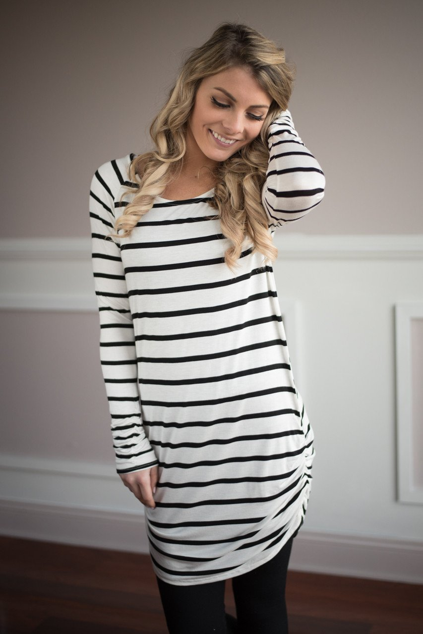 Layer it Up ~ Striped Tunic Top