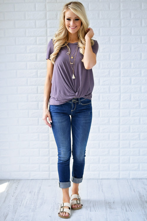 Plum Perfect Knot Top