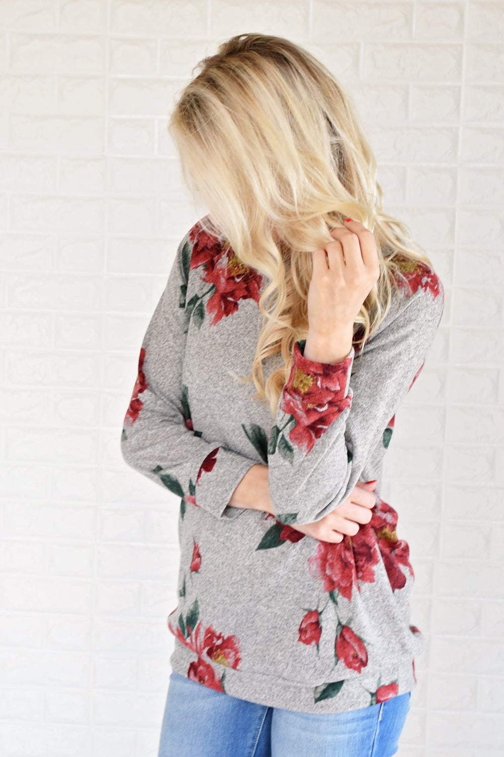 Endless Possibilities Long Sleeve Floral Top