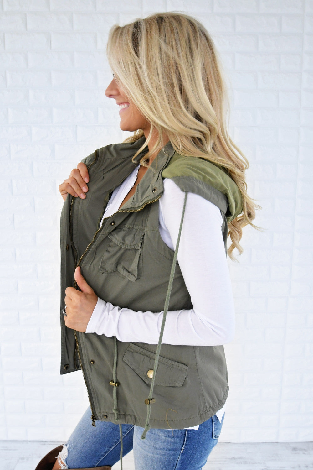 Essential Fall Vest - Soft Sage
