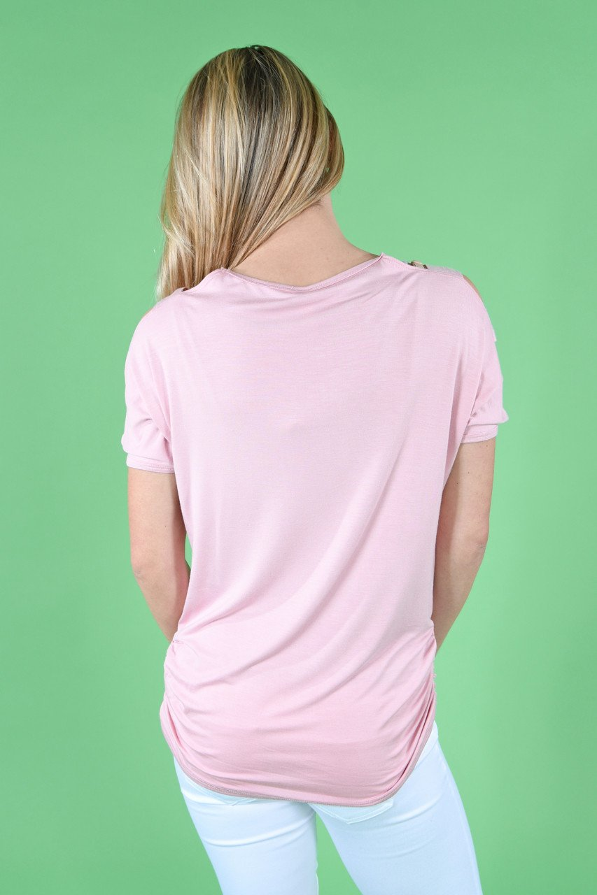 Give'm The Cold Shoulder ~ Light Pink