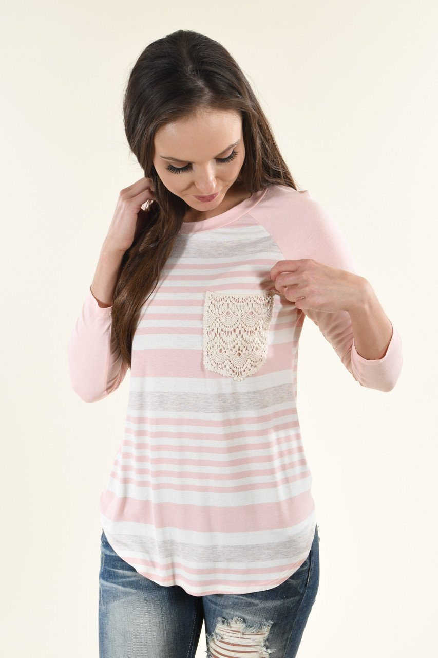 Bringing the Fun Top ~ Light Pink