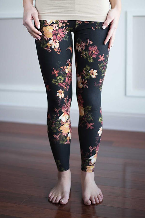 Floral Leggings ~ Yellow