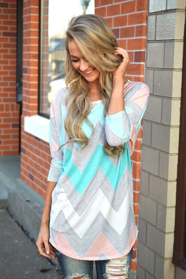 Open Season Tunic Top ~ Mint