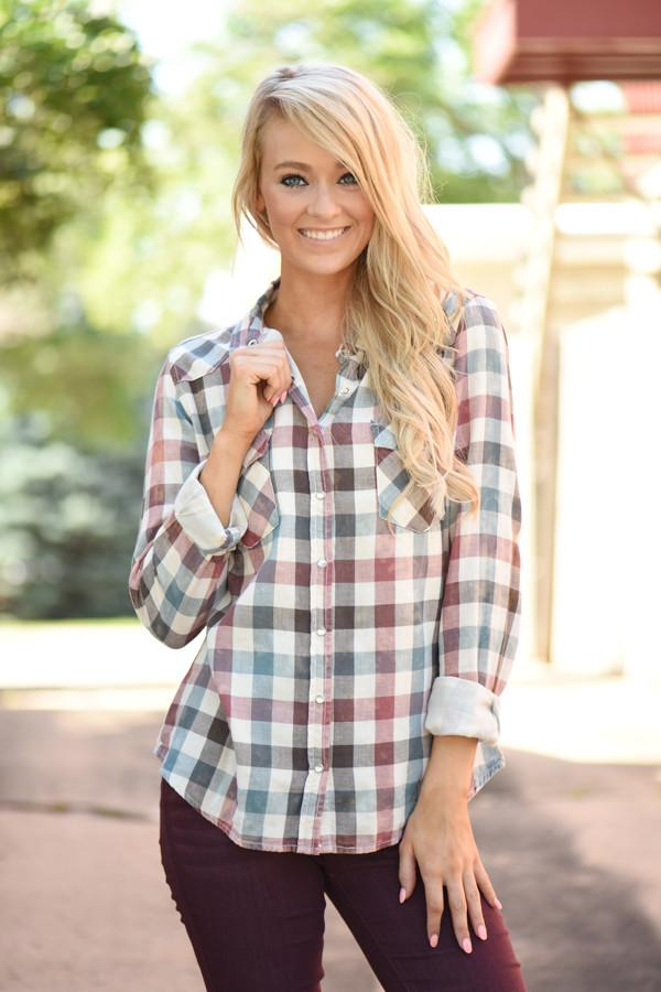 Mad for Plaid Top