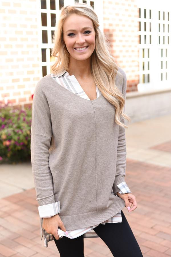 Lush Light Mocha Sweater