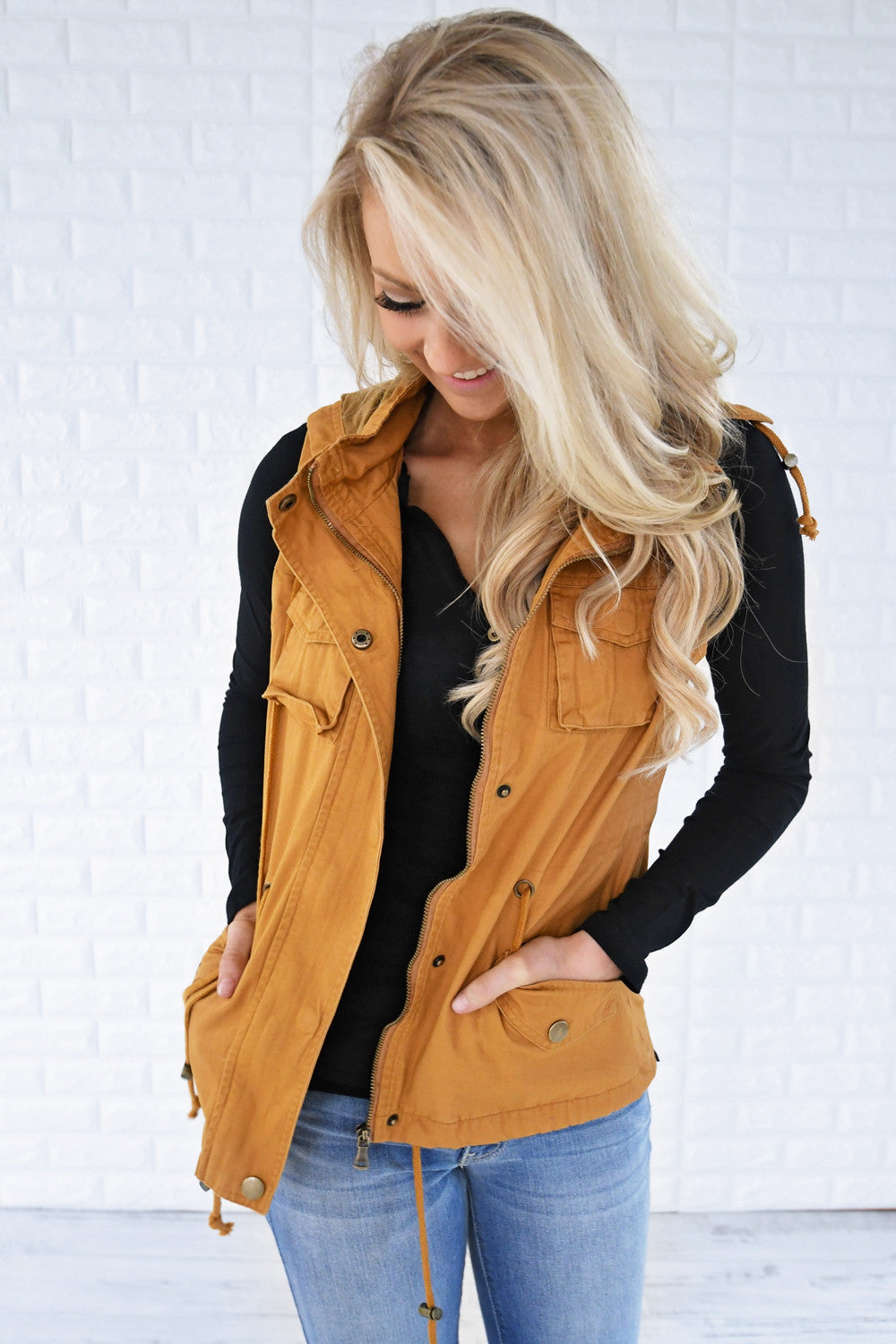 Essential Fall Vest - Mustard