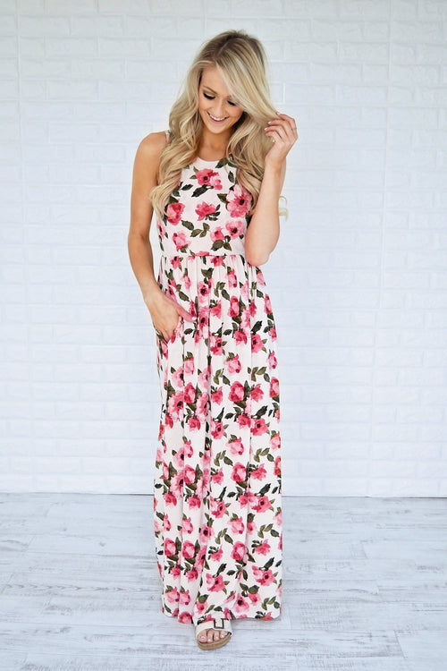 Change of Heart Floral Maxi Dress