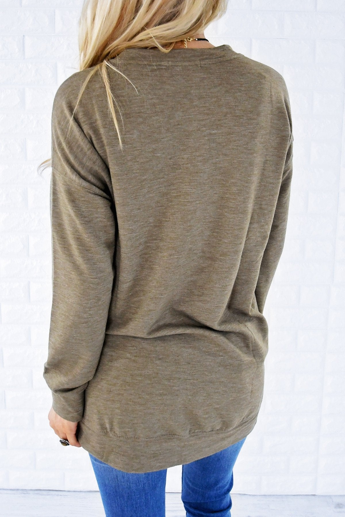 Pocket Sweater - Olive