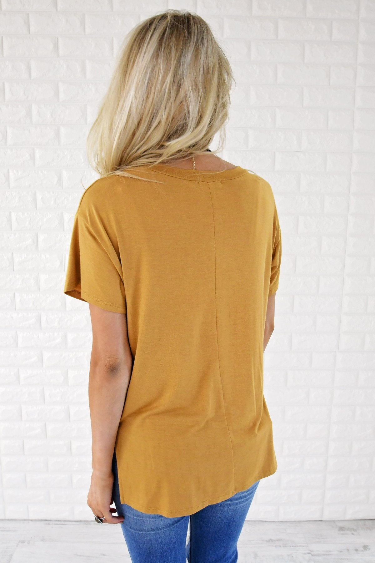 Ready or Not Pocket Top ~ Mustard