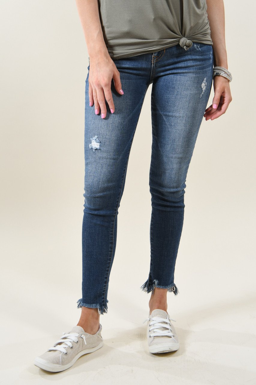 Sneak Peek Medium Wash Crop Jeans