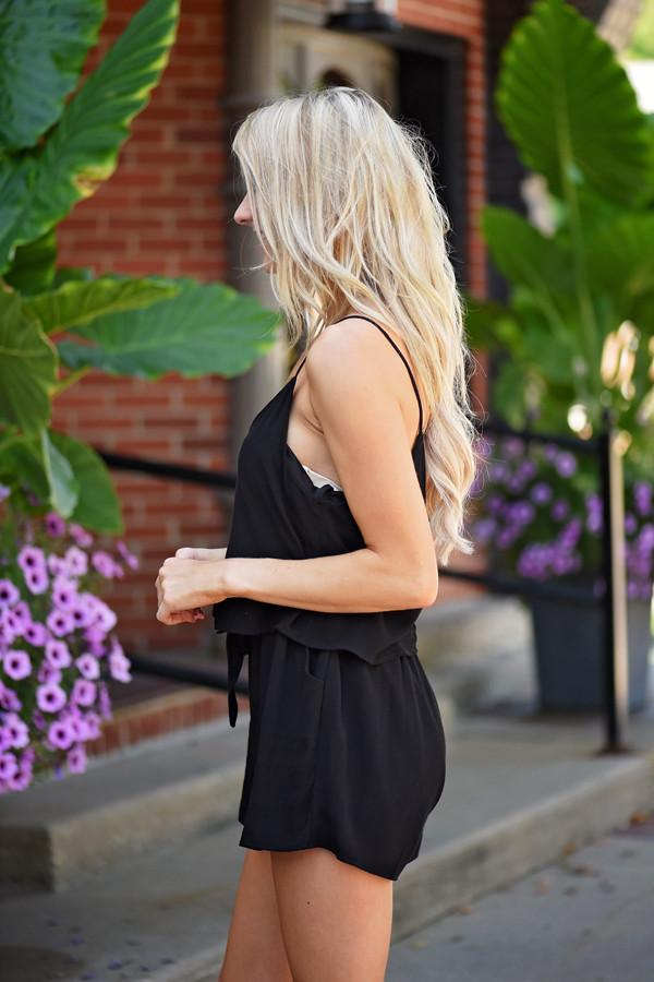 Gold Button Romper