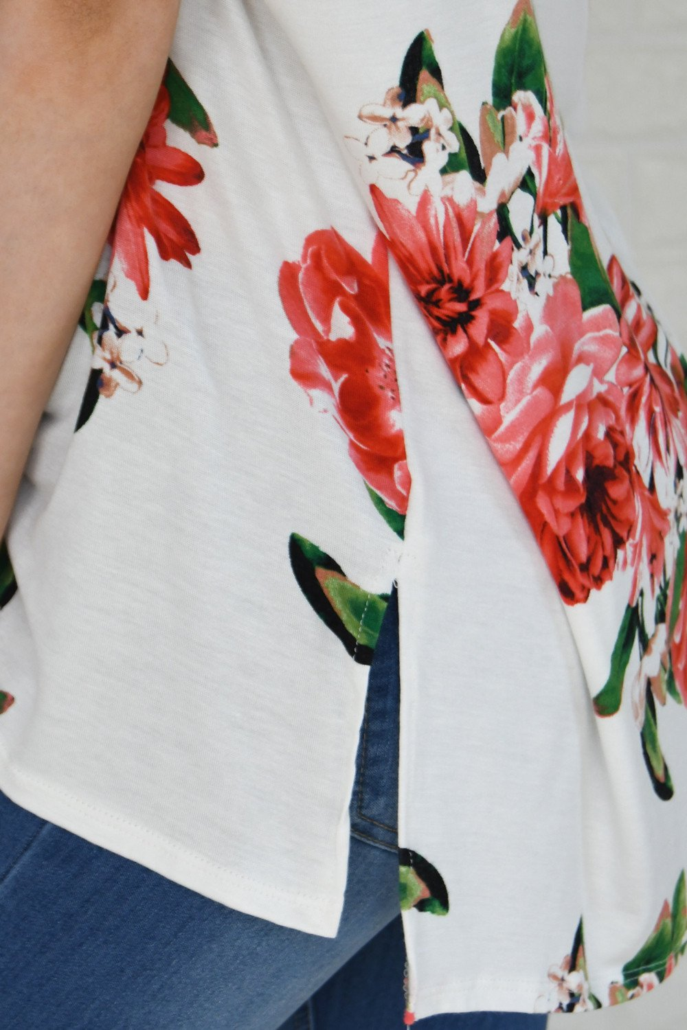 River of Roses Floral Top
