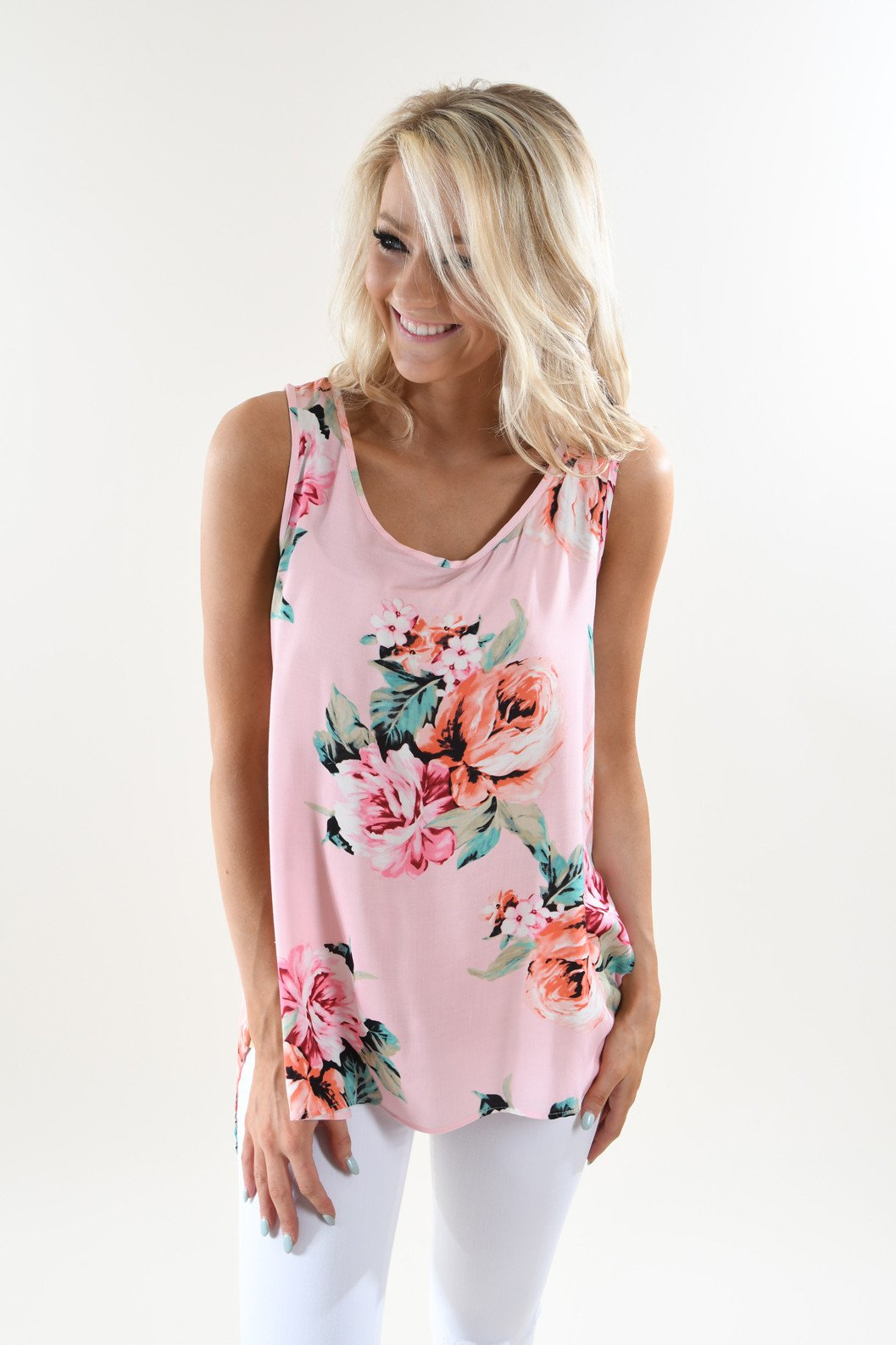Brunch Ready Floral Tank Top
