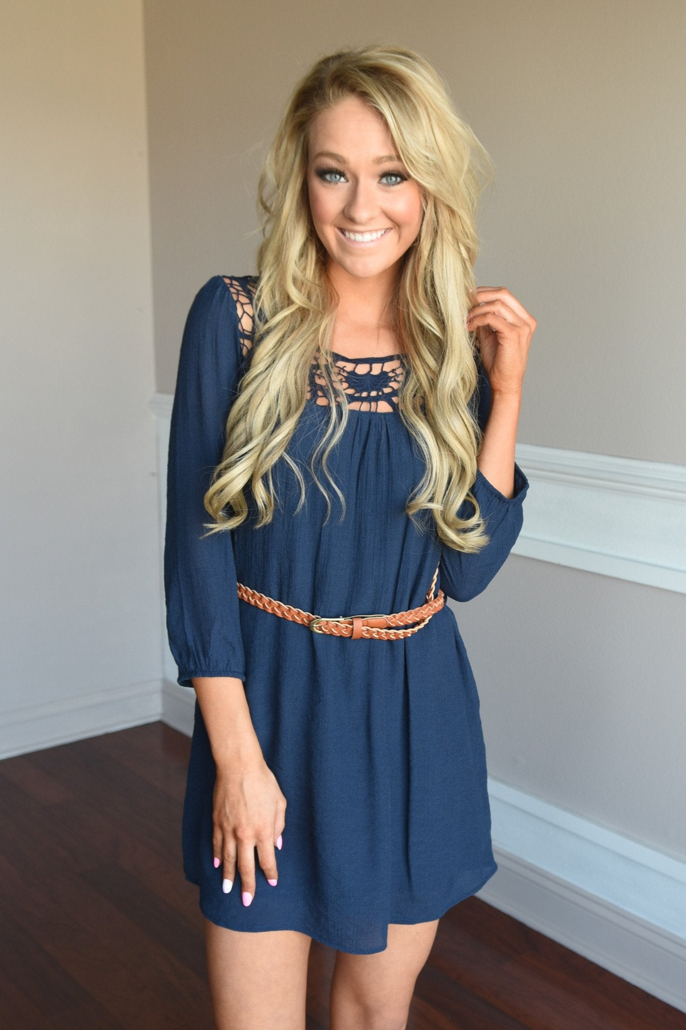 Two Step Dress ~ Navy