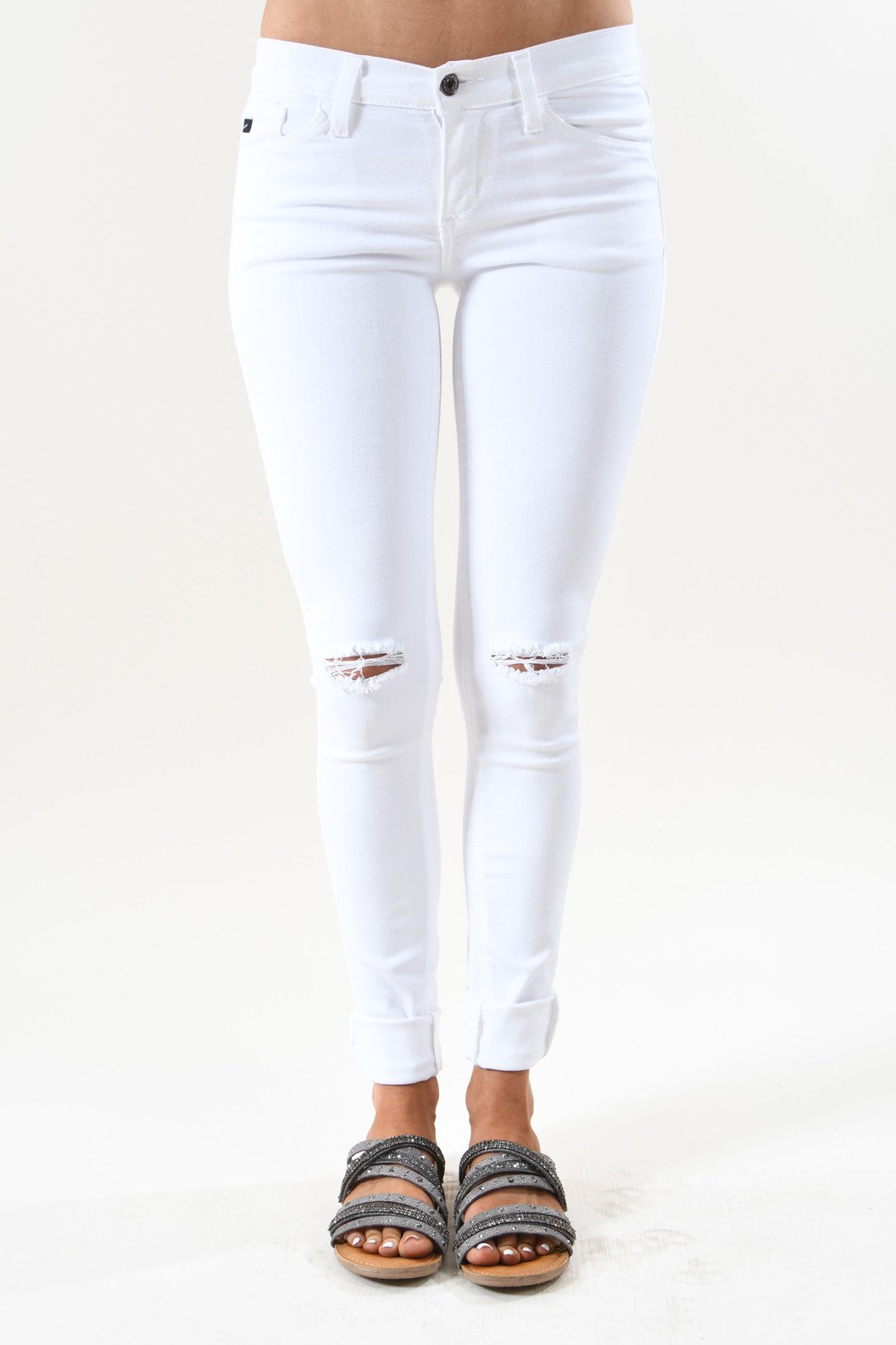 Ultimate Distressed White Jeans