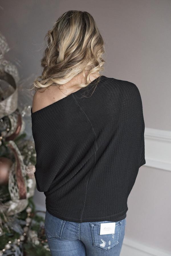 Off the Shoulder Top ~ Black