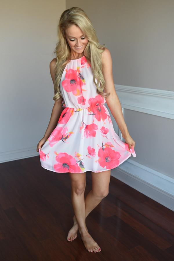 Wallflower Dress ~ Pink