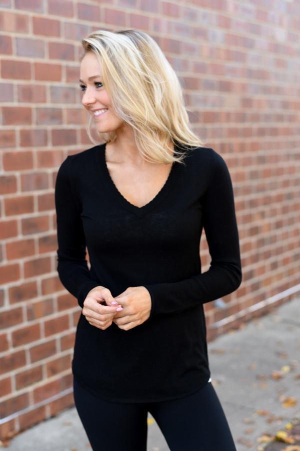 Get Comfy Black Sweater
