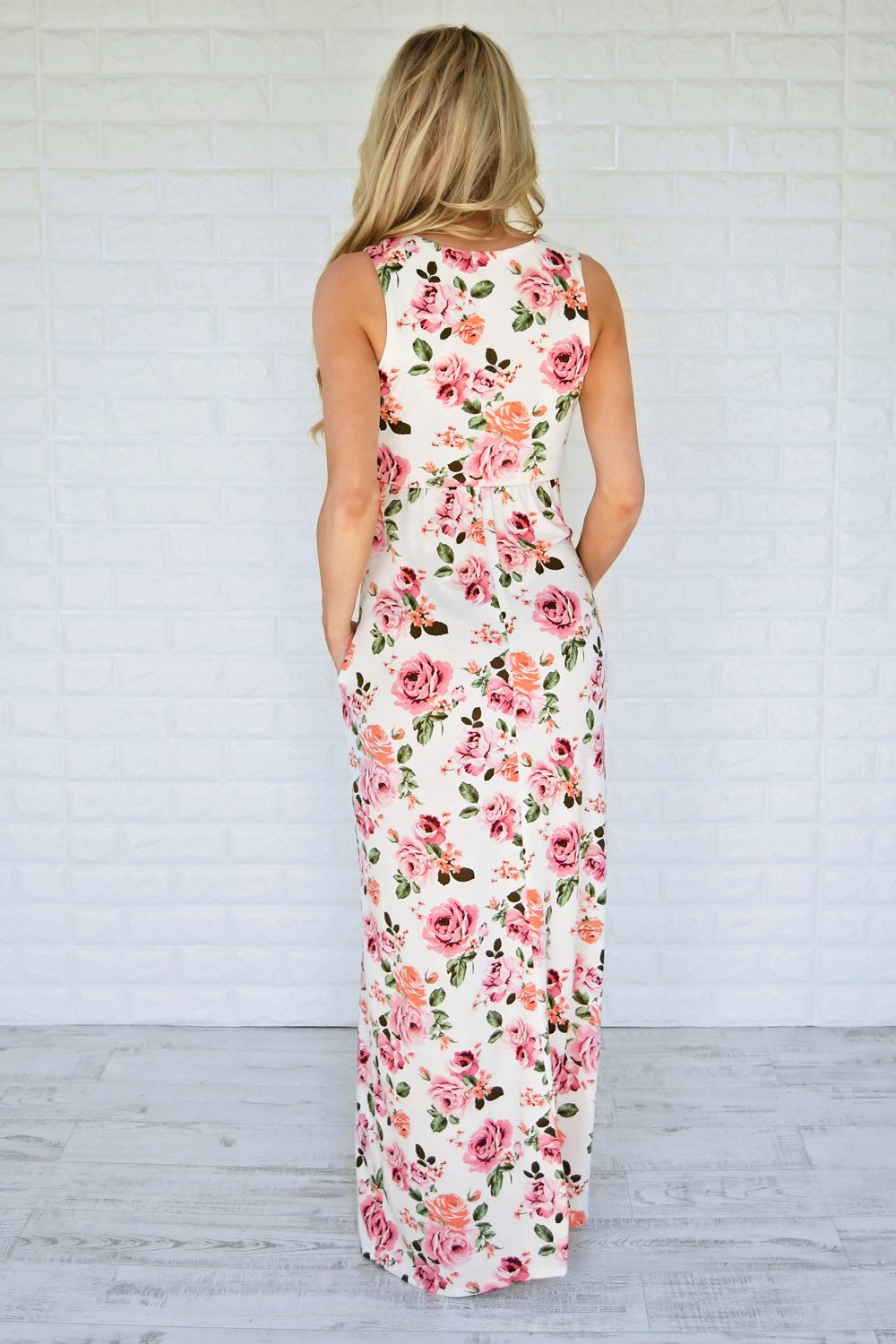 Courting Roses Maxi Dress