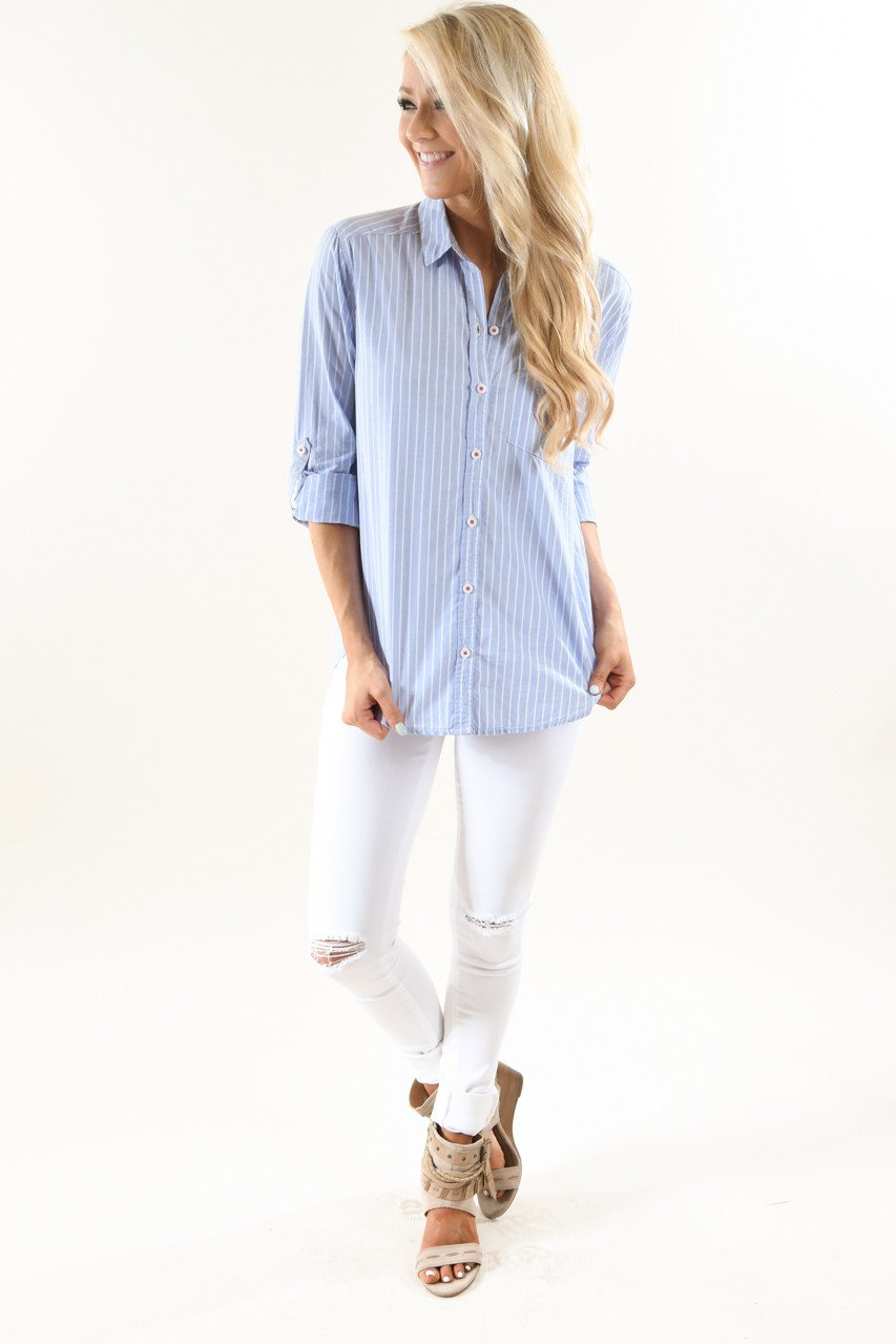 Brunch With Me Pin Stripe Top
