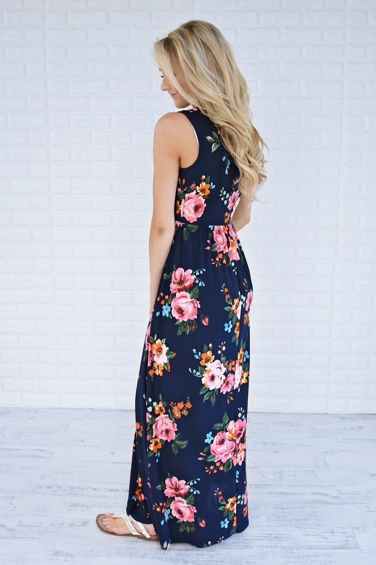 Sugar Sugar Floral Dress -Navy