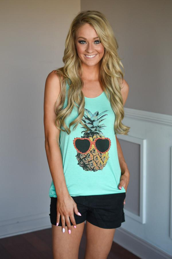 Blue Pineapple Top