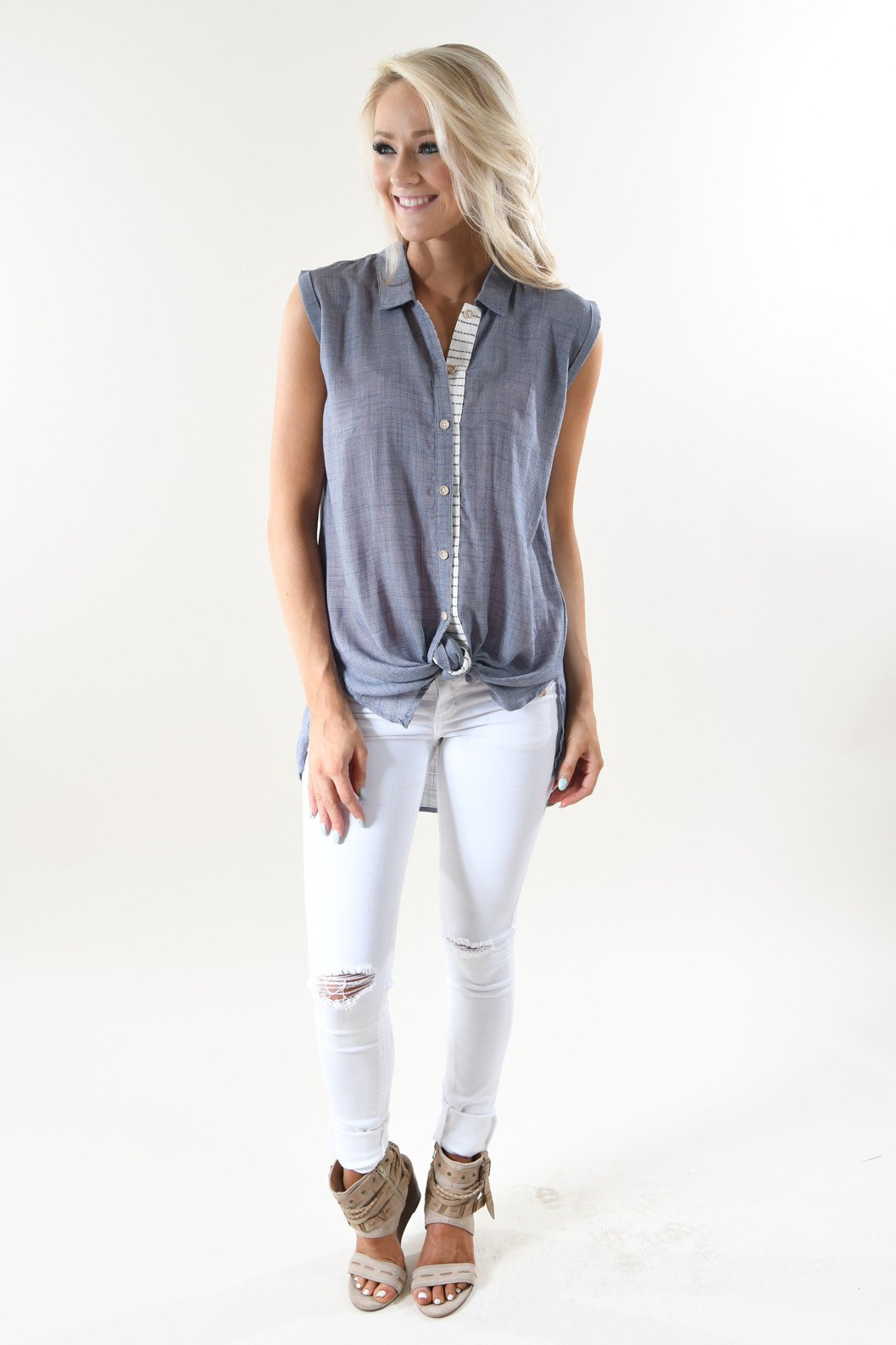 Summer Destination Sleeveless Top