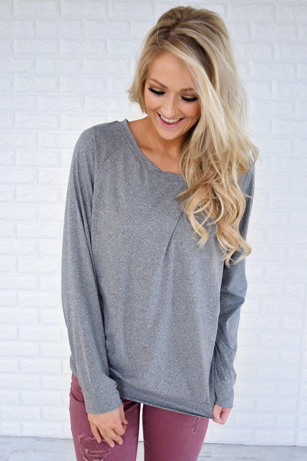 Just a Crush Sweater ~ Grey