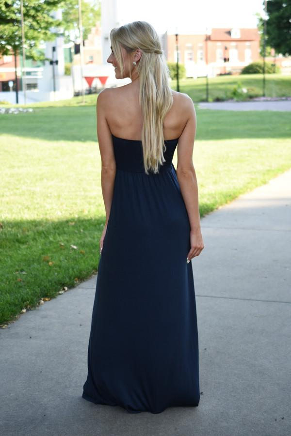 Land of the Free Strapless Maxi Dress