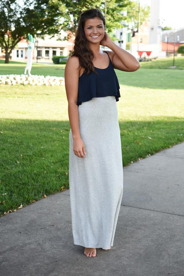 Simple & Chic Maxi Dress ~ Navy