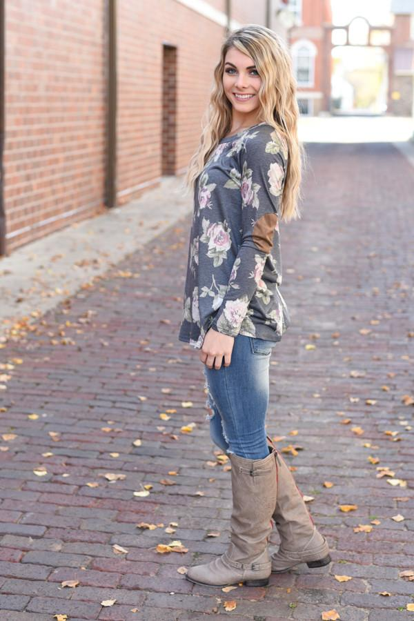 Close Encounter Floral Tunic Top