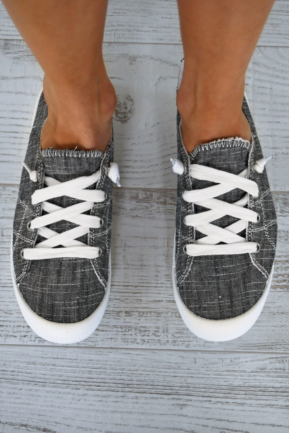 Not Rated ''Rae'' Sneakers ~ Charcoal