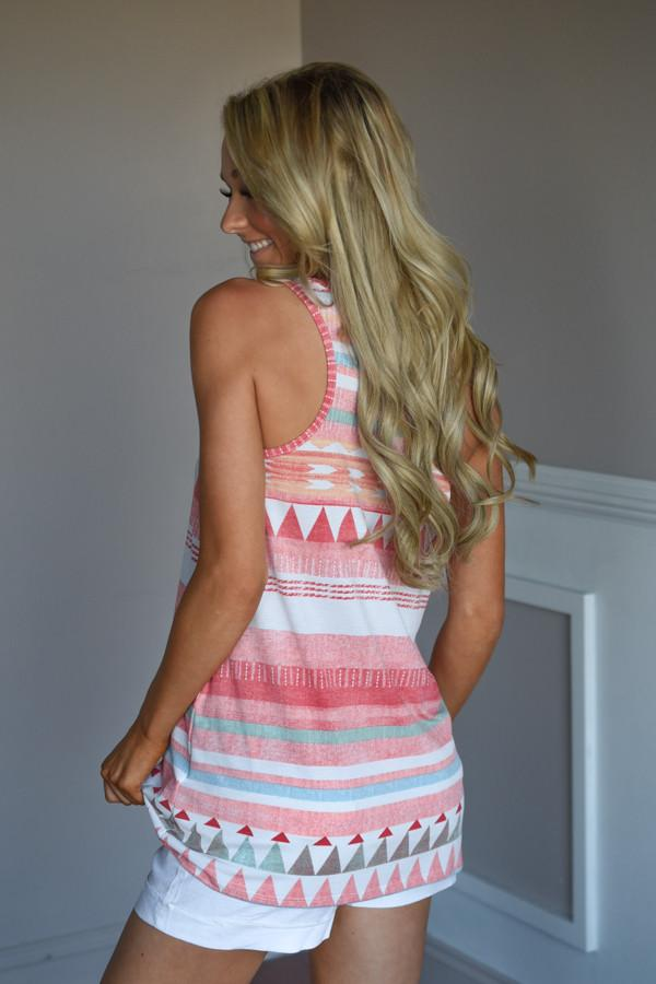 Summertime Dreaming Tank ~ Coral