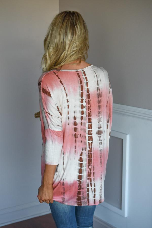 The Girl Loves Pink Top ~ Tie Die