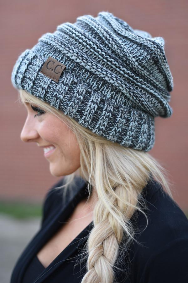 Blue Slouched Beanie