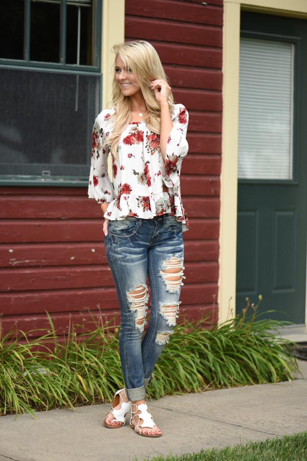 White Rose Blouse