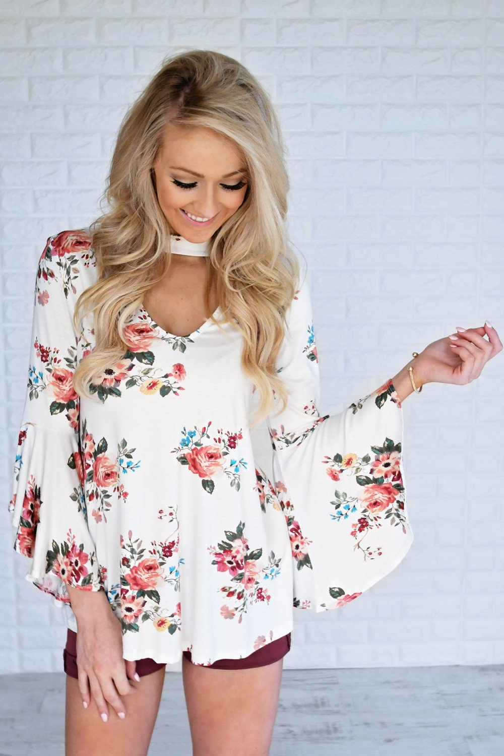 Country Flair Mock Neck Top