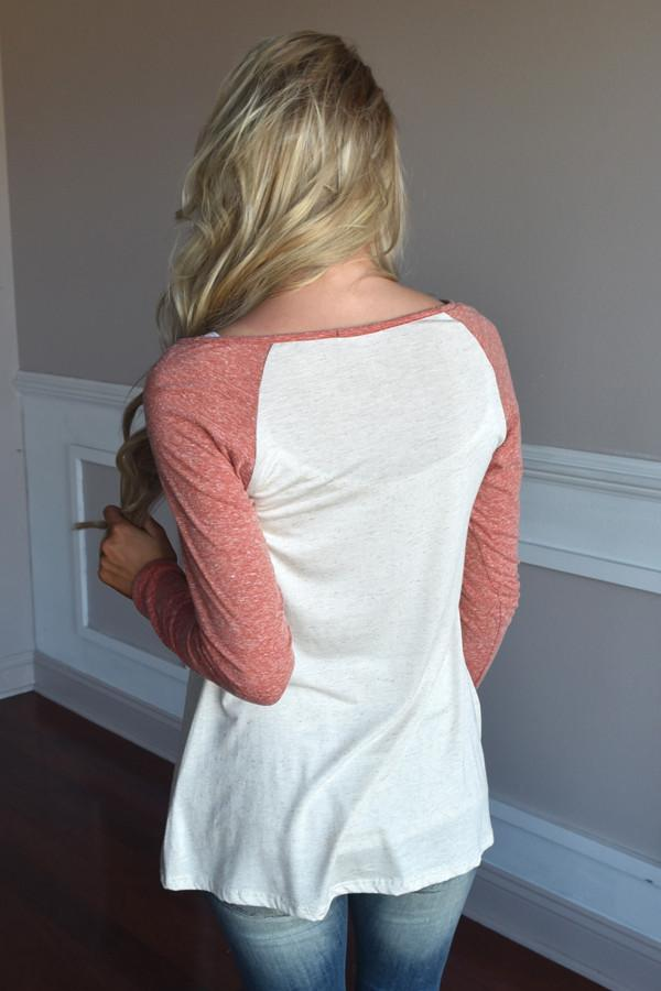 Coral Glam Top